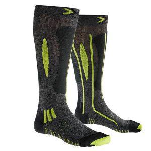 Odzież zimowa > Skarpety - Skarpety X-Socks Effektor xbs. Ski Race Grey Black Lime G492 2018