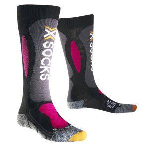 Odzież zimowa > Skarpety - Skarpety X-Socks Ski Carving Silver Lady Black Violet B117 2018