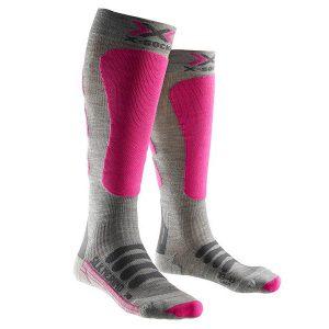 Odzież zimowa > Skarpety - Skarpety X-Socks Ski Silk Merino Lady Grey Fuchsia G361 2018
