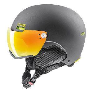 Akcesoria > Kaski - Kask z przyłbicą szybą Uvex Hlmt 500 Visor Gun Lime Mat Litemirror Orange 2019