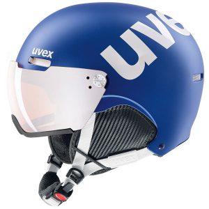 Akcesoria > Kaski - Kask z przyłbicą szybą Uvex Hlmt 500 Visor Cobalt white mat / Litemirror Silver 2019