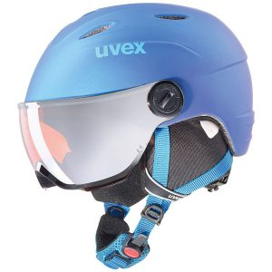 Akcesoria > Kaski - Kask z przyłbicą szybą Uvex Junior Visor Pro Blue Met Mat 2019
