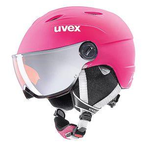 Akcesoria > Kaski - Kask z przyłbicą szybą Uvex Junior Visor Pro Pink Mat 2019