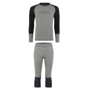 Odzież zimowa > Bielizna termoaktywna - Zestaw Bielizny Technicznej Majesty Cover Base Layer SET Grey/Black 2019