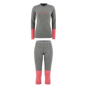 Odzież zimowa > Bielizna termoaktywna - Zestaw Bielizny Technicznej Majesty Cover Lady Base Layer SET Grey/Pink 2019