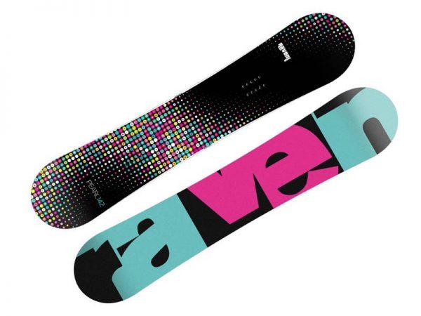 Snowboard > Deski snowboardowe - Deska Raven PEARL Black/Mint 2019