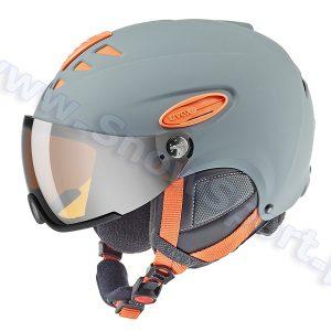 Akcesoria > Kaski - Kask z Przyłbicą Szybą UVEX Hlmt 300 Grey Orange Mat 2017