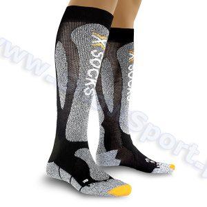 Odzież zimowa > Skarpety - Skarpety X-Socks Ski Carving Silver black grey melange