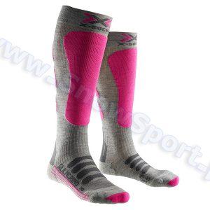 Odzież zimowa > Skarpety - Skarpety X-Socks Ski Silk Merino Lady grey fuchsia