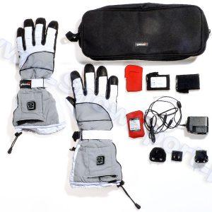 Akcesoria > Systemy grzewcze - Ogrzewane rękawice narciarskie Glovii GS2 Białe