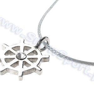 Lifestyle > Biżuteria i dodatki - Srebrny naszyjnik SilverSurf Stering Wheel S z kryształem Swarovskiego