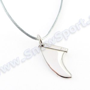 Lifestyle > Biżuteria i dodatki - Srebrny naszyjnik SilverSurf Fin S Silver