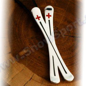 Lifestyle > Biżuteria i dodatki - Srebrny naszyjnik SilverSurf Ski Cross L